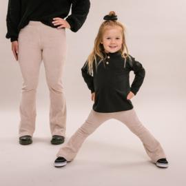 No labels kidswear  big rib sand flare pants