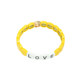 Armband yellow Love