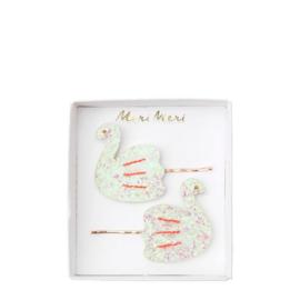 Meri meri swan haarspeldjes