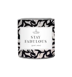 The gift label - candle in tin - jasmine vanille - stay fabulous small
