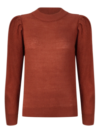 Ydence knitted sweater Sanne rust