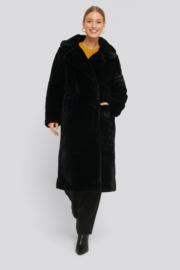NAKD Faux fur coat black