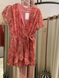 Pink leave jumpsuit