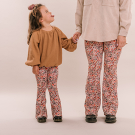 No labels kidswear flower flared pants