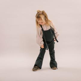 No labels kidswear salopette flare denim