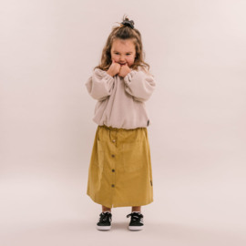 No labels kidswear maxi skirt rib olive