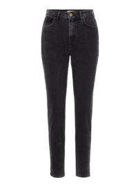 PIECES Leah mom High waist  black ankle jeans
