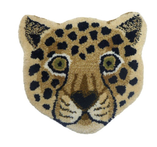 DOING GOODS |  LOONEY LEOPARD HEAD RUG