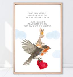 Gein Konijn poster ' Meevliegen'