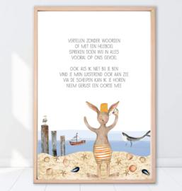 Gein Konijn poster ' Luisterend oor'