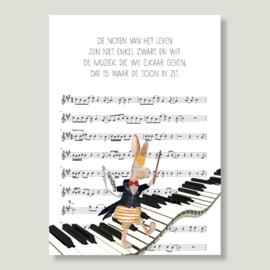 Gein Konijn 'Muzieknoten'
