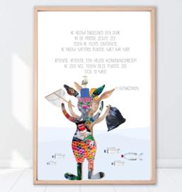 Gein Konijn poster ' Plastic Zee'