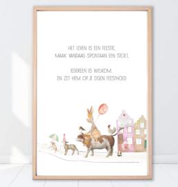 Gein Konijn poster ' Feestje'
