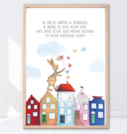 Gein Konijn poster ' Verhuizen'