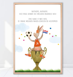 Gein Konijn poster ' Buitenspel'