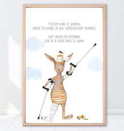 Gein Konijn poster ' Fouten mag je maken'