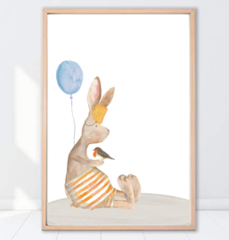 Gein Konijn poster 'ballon'