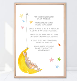 Gein Konijn  poster 'Verjaardagswens'