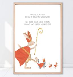 Gein Konijn poster ' Sinterklaas'