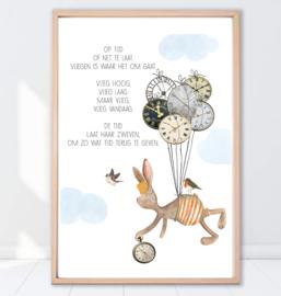 Gein Konijn poster 'Tijdballonnen'