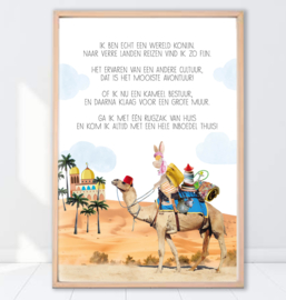 Gein Konijn poster ' Verre reizen'