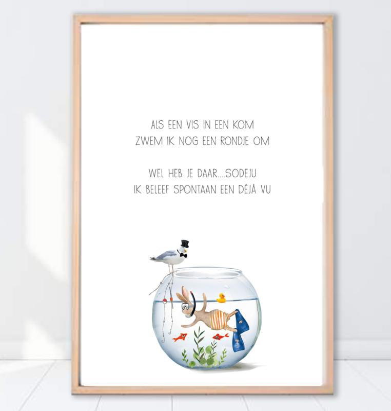 Gein Konijn poster ' Déjà vu'