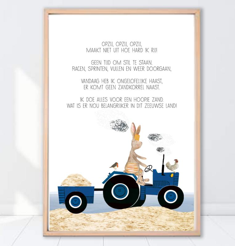 Gein Konijn poster ' Hoopje zand'