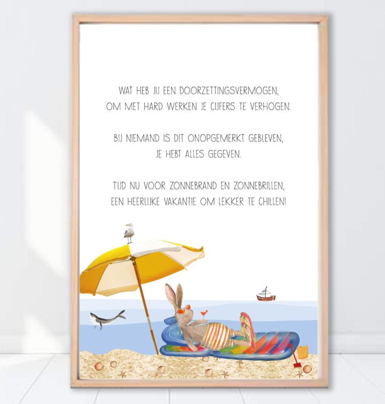 Gein Konijn poster ' Vakantie'