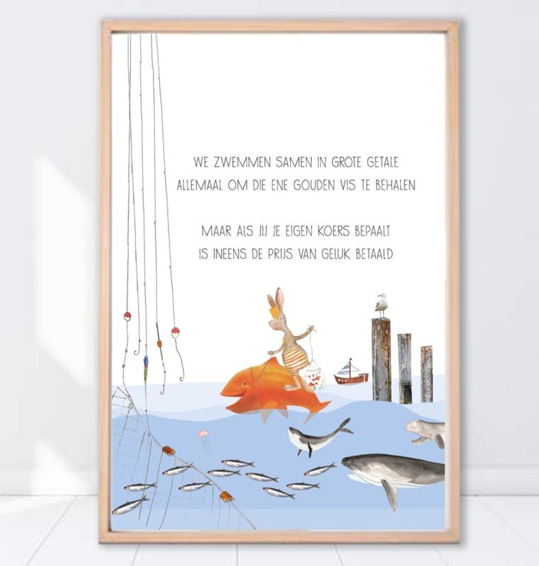 Gein Konijn poster ' Gouden vis'