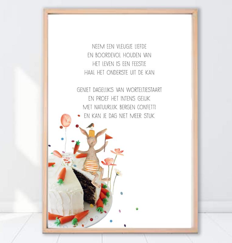 Gein Konijn poster ' Worteltaart'