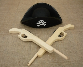 Pirate houten pistool voor piraten