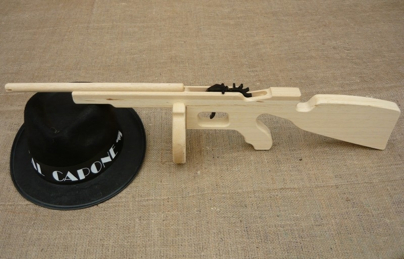 Tommy Gun houten machinegeweer