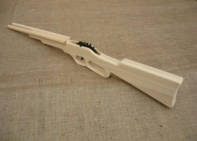 Houten dubbelloops jachtgeweer