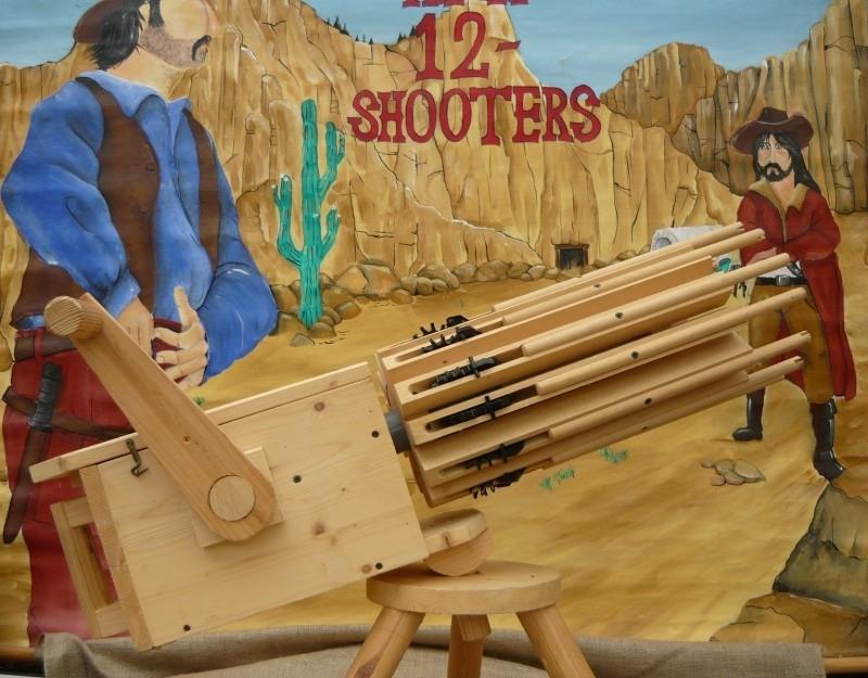 Gatlin Gun houten machinegeweer uit het Wilde Westen
