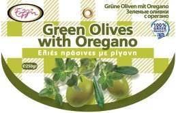 Groene olijven met oregano  250 gram