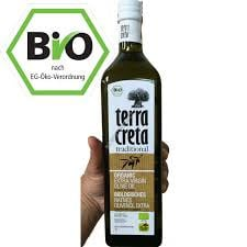 5 x 1 liter biologische olijfolie i.p.v. 5 liter blik