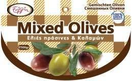 Mix olijven groen en zwart  250 gr.