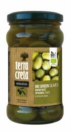 Biologische Griekse  groene olijven 160 gr.