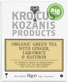 Biologische thee met gember-zoethout en Saffraan