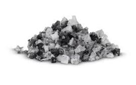 Zeezout flakes met inktvisinkt