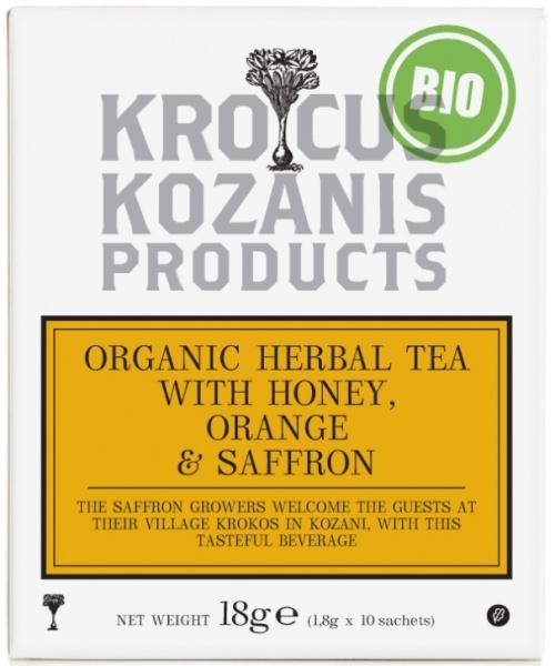 Biologische thee met sinaasappel  honing en Saffraan