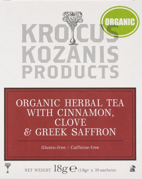 Biologische thee met kaneel kruidnagel en Saffraan