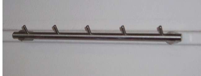 Kinderkapstok, sleutelrek, of vaatdoekje rek (C7083.01)