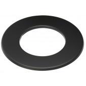 Rozet 3 cm zwart / Ø 125 mm