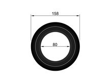 rozet 35 mm / Ø 80 mm