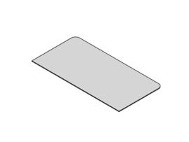 Glasplaat rechthoek 50x100 cm