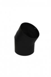 33 graden bocht zwart / Ø 120 mm