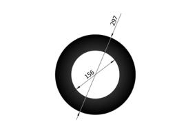 Rozet 7 cm / Ø 150 mm zwart