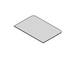 Glasplaat rechthoek 40x60 cm