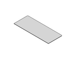 Glasplaat rechthoek 40x100 cm
